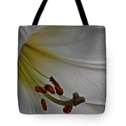 Snowy Lily Tote Bag