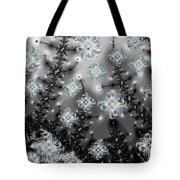 Snowy Night I Fractal Tote Bag by Betsy Knapp