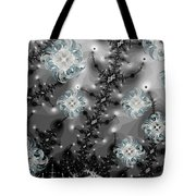 Snowy Night II Fractal Tote Bag