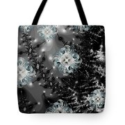 Snowy Night IIi Fractal Tote Bag by Betsy Knapp