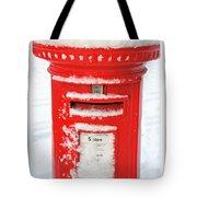 Snowy Pillar Box Tote Bag