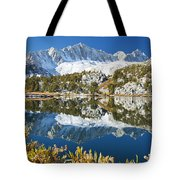 Snowy Reflections On Lake Tote Bag