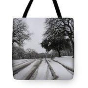 Snowy Road Tote Bag