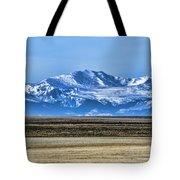 Snowy Rockies Tote Bag