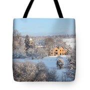Snowy Scene In England Tote Bag