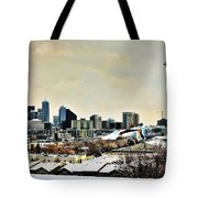 Snowy Seattle Tote Bag