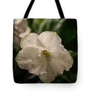 Snowy White Violet Tote Bag