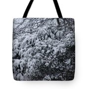 Snowy Winter Branches Tote Bag