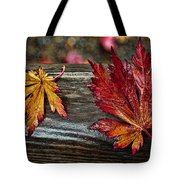 Soaked Leaves Tote Bag