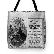 Soap Advertisement, C1866 Tote Bag