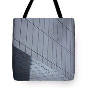 Soft Gray Glass Tote Bag
