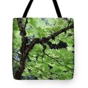 Soft Green Leaves Tote Bag