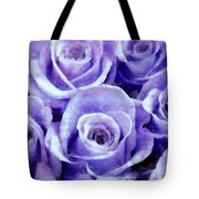 Soft Lavender Roses Tote Bag