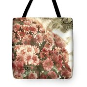 Soft Red Mums Tote Bag