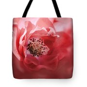 Soft Rose In Square Format Tote Bag