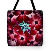 Soft Scarlet Floral Tote Bag