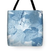 Softness Of Blue Leaves Tote Bag