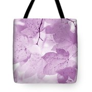 Softness Of Violet Maple Leaves Tote Bag