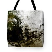 Solar Eclipse Over Southeast Asia Tote Bag by Stocktrek Images