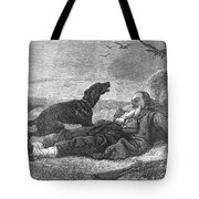 Soldier & Dog Tote Bag