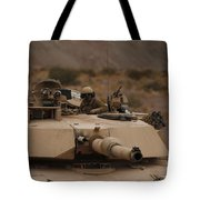 Soldier Looks Out The Main Hatch Tote Bag
