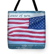 Soldier Veteran Thank You Tote Bag