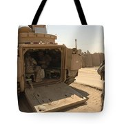 Soldiers Climb Into The Back Of A M2 Tote Bag
