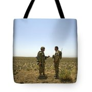 Soldiers Discuss, Drop Zone Tote Bag