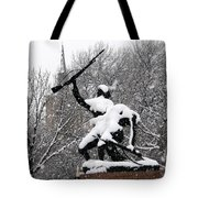 Soldiers In The Snow Tote Bag