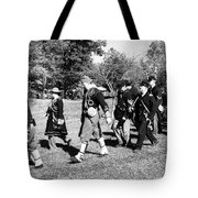 Soldiers March Black And White IIi Tote Bag