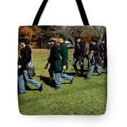 Soldiers March Two By Two Tote Bag