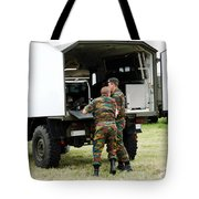 Soldiers Of An Infantry Section Tote Bag