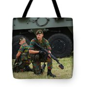 Soldiers Of An Infantry Unit Tote Bag