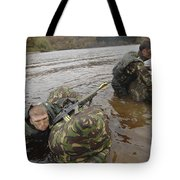 Soldiers Participate In A River Tote Bag