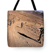Soldiers Patrol To A Village Tote Bag
