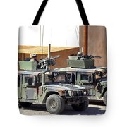 Soldiers Provide Overwatch For Fellow Tote Bag