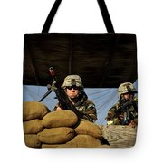 Soldiers Provide Security Tote Bag