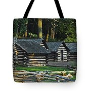 Soldiers Quarters At Valley Forge Tote Bag