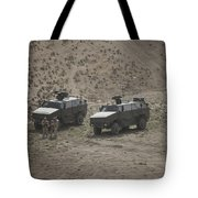 Soldiers Stand Outside Their German Atf Tote Bag