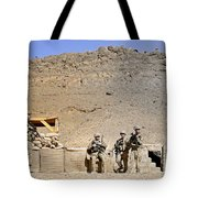 Soldiers Wait For Afghan National Tote Bag