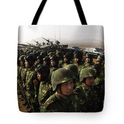 Soldiers With The Peoples Liberation Tote Bag
