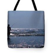 Solitary Angler Tote Bag