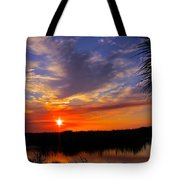 Solitary Sunset Tote Bag