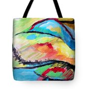 Some Colors On A Hill Tote Bag