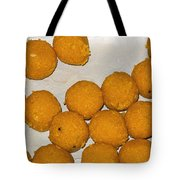 Some Indian Sweets Called A Ladoo In The Shape Of A Sphere Tote Bag