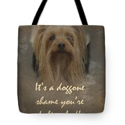 Sorry You're Sick Greeting Card - Cute Doggie Tote Bag