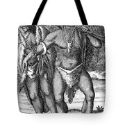 South Africa: Hottetot Man Tote Bag