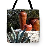 South Western Pottery And Cactus Tote Bag