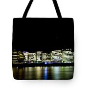 Southbank London At Night Tote Bag
