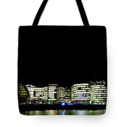 Southbank View Across The River Thames Tote Bag